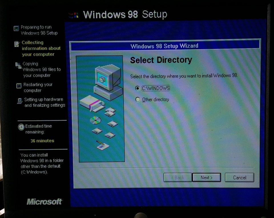 Can I downgrade from windows 2000 to windows 98 SE?