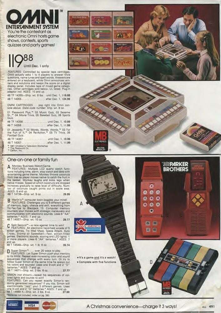 Wards 1981 Christmas Catalogue - Omni Game