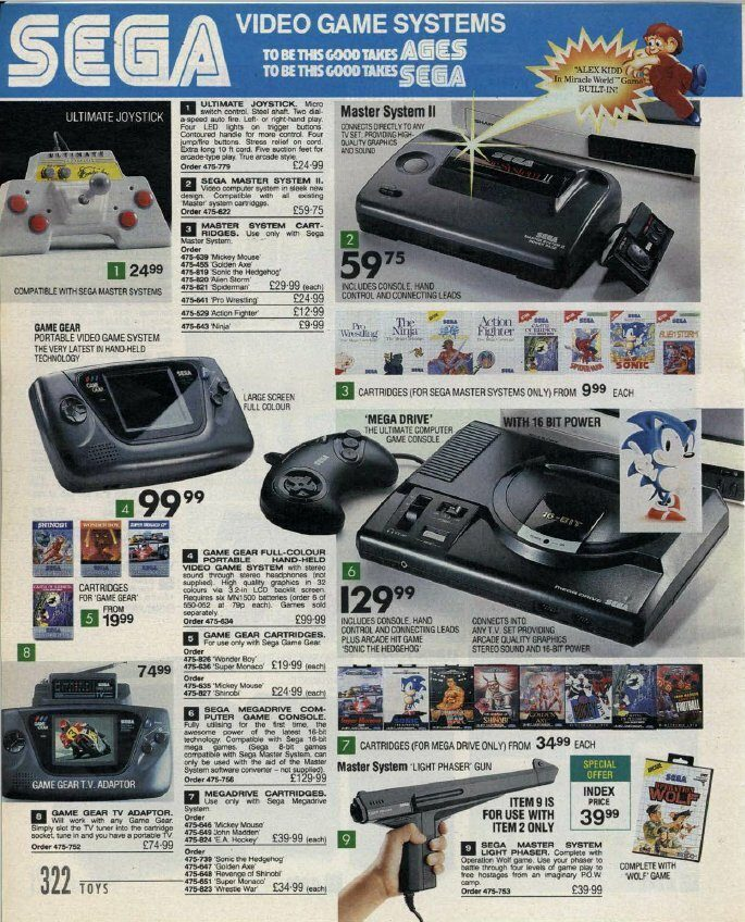 Mega Drive and Master System Catalogue