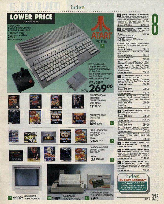 Atari STFM in Catalogue