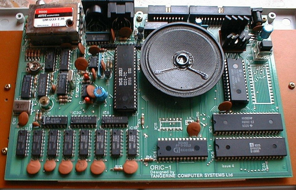 Oric 1 Motherboard Layout