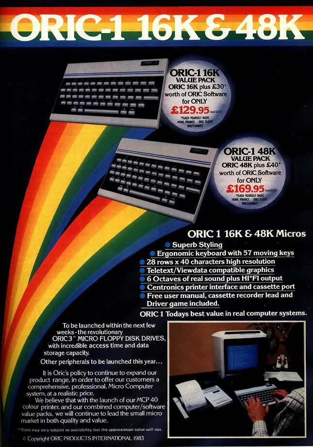 Oric 1 Magazine Advert