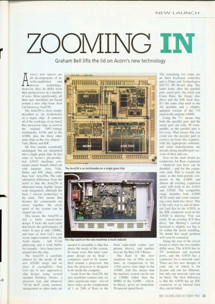 Acorn Archimedes ARM RISC article