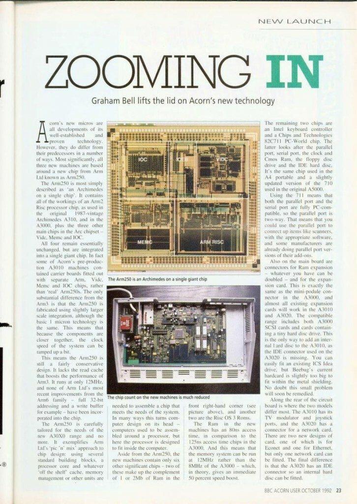 Acorn Archimedes ARM RISC article