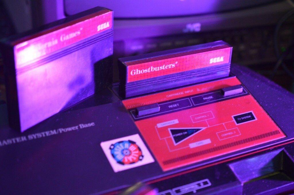 Sega Master System at night