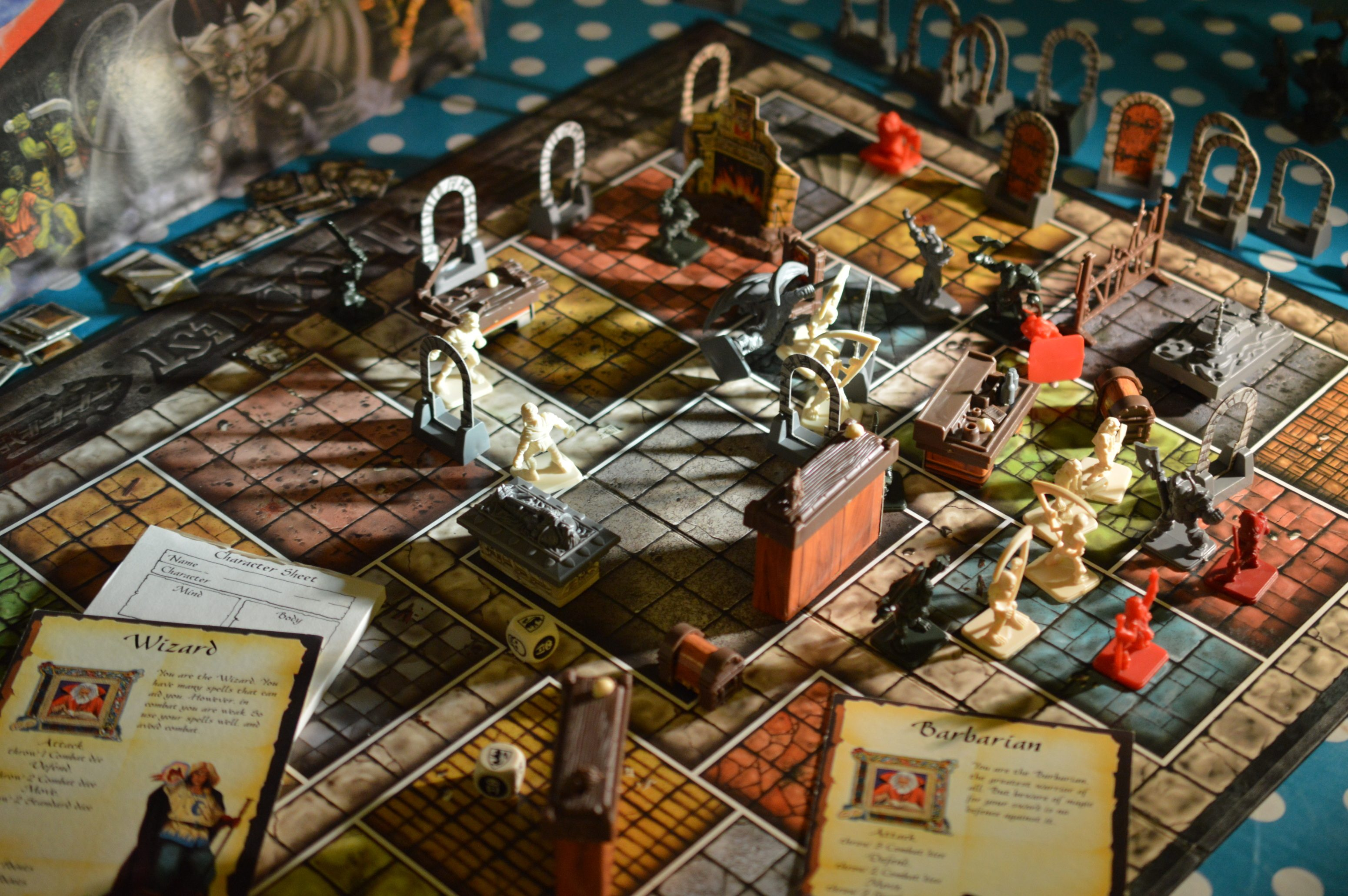 Room Furniture Layout Heroquest Review Nostalgia Nerd