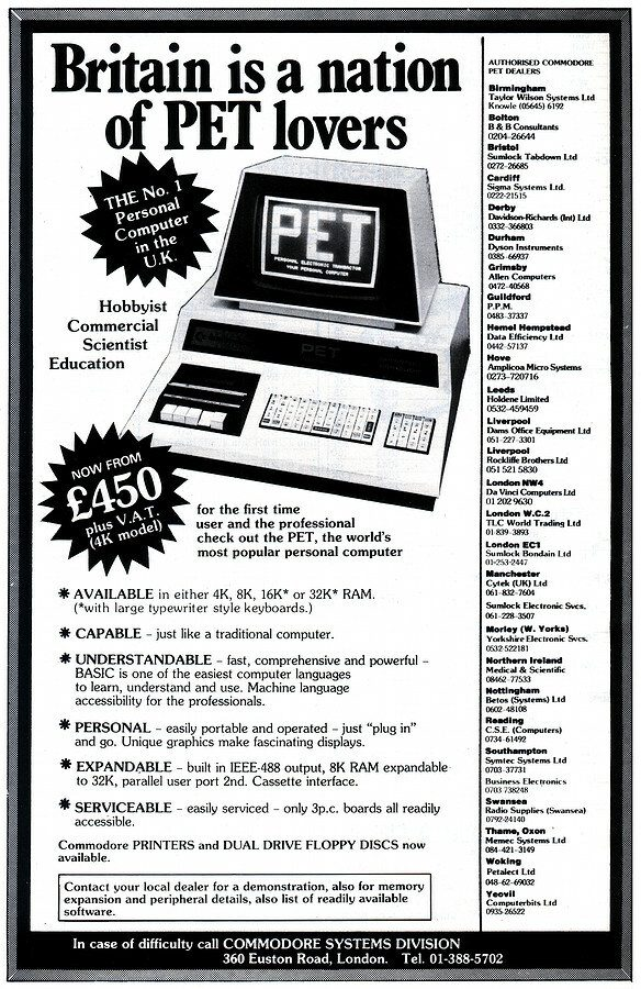 Commodore PET Advert