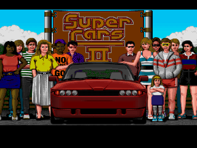 Supercars II Title Screen