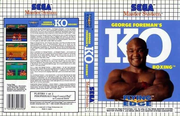 Master System Box Art