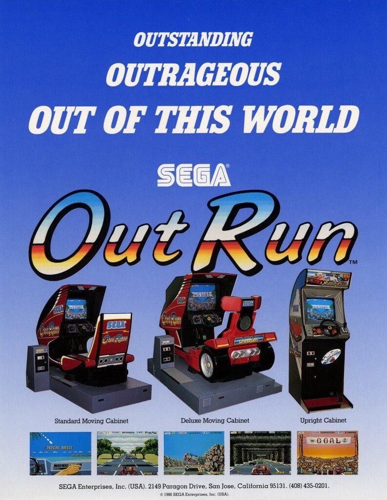 Outrun Arcade Cabinet Advert