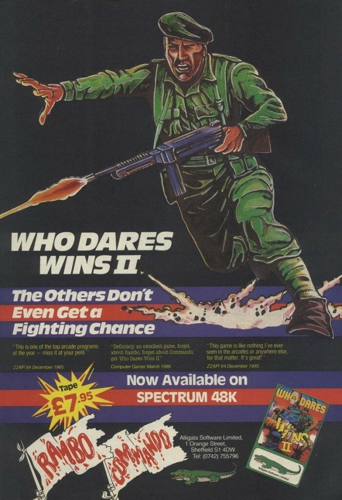 Who Dares Wins II Advert