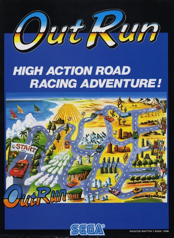 Outrun Map Advert
