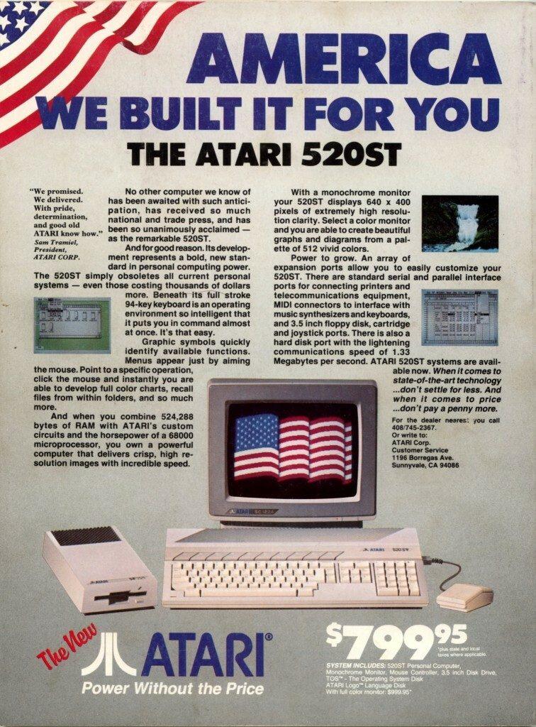 American Atari ST Advert