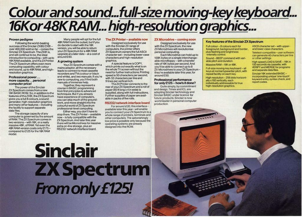 Sinclair Spectrum Advert