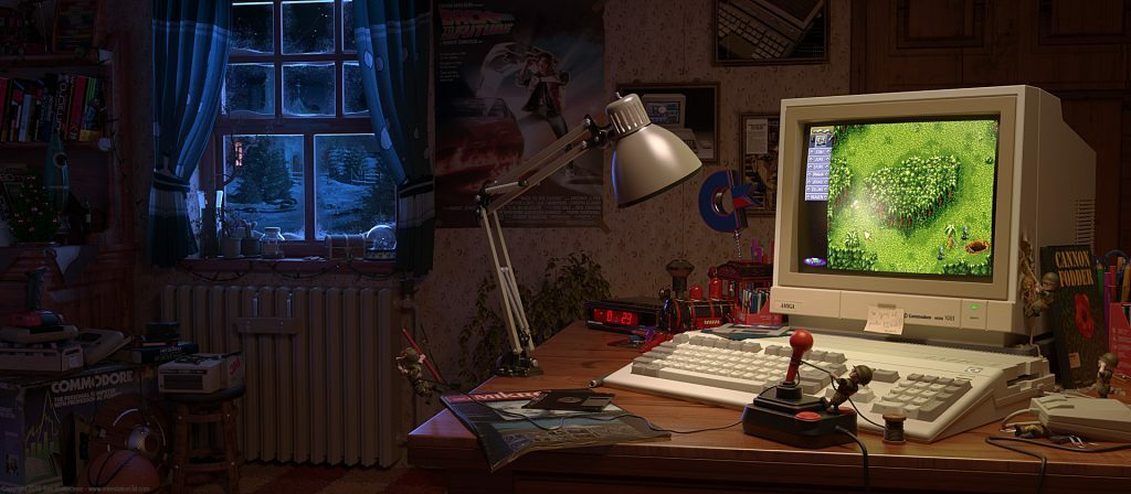 Amiga 500 at Christmas