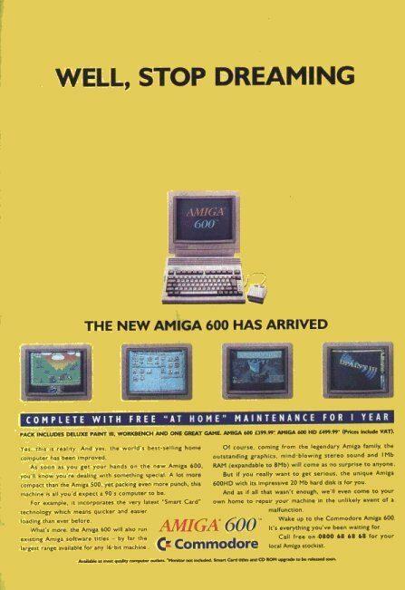 Amiga 600 Advert