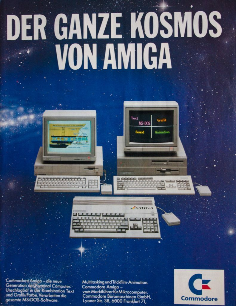 Amiga 1000,2000+500 Advert