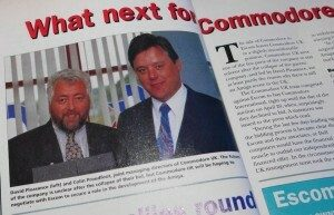 David Pleasance with Escom's Colin Proudfoot