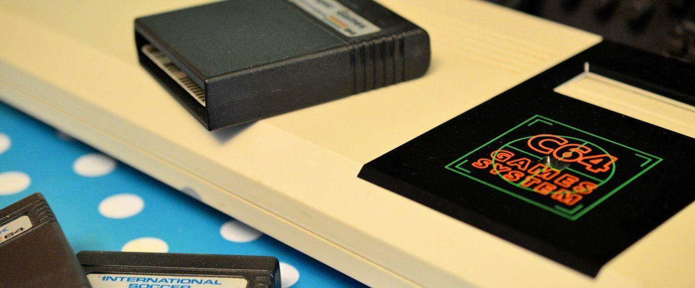 Commodore 64GS Close up