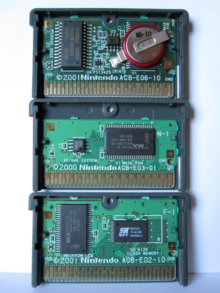 Gameboy Advance Cartridge Chips