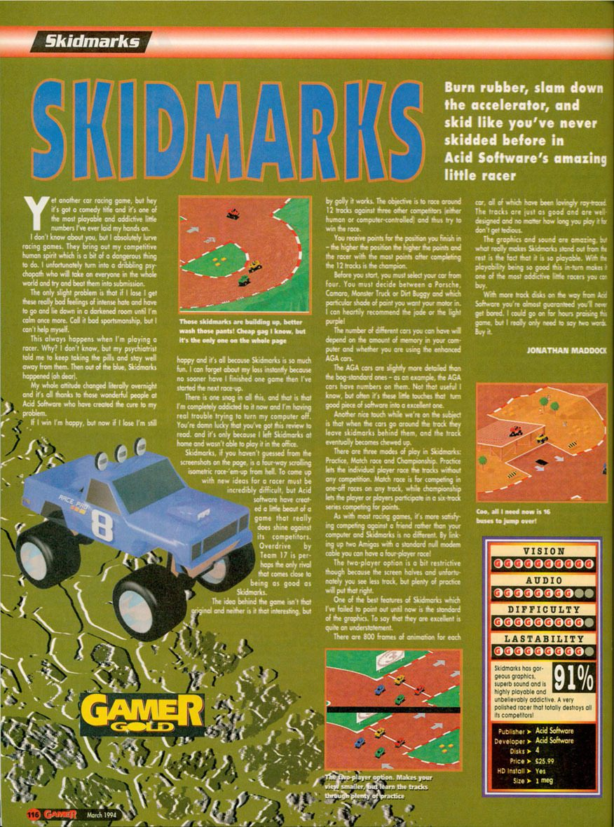 Skidmarks Amiga Review