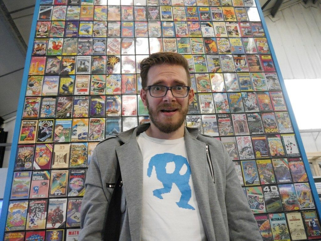 Nostalgia Nerd @ Centre of Computing History Wall of Cassette games