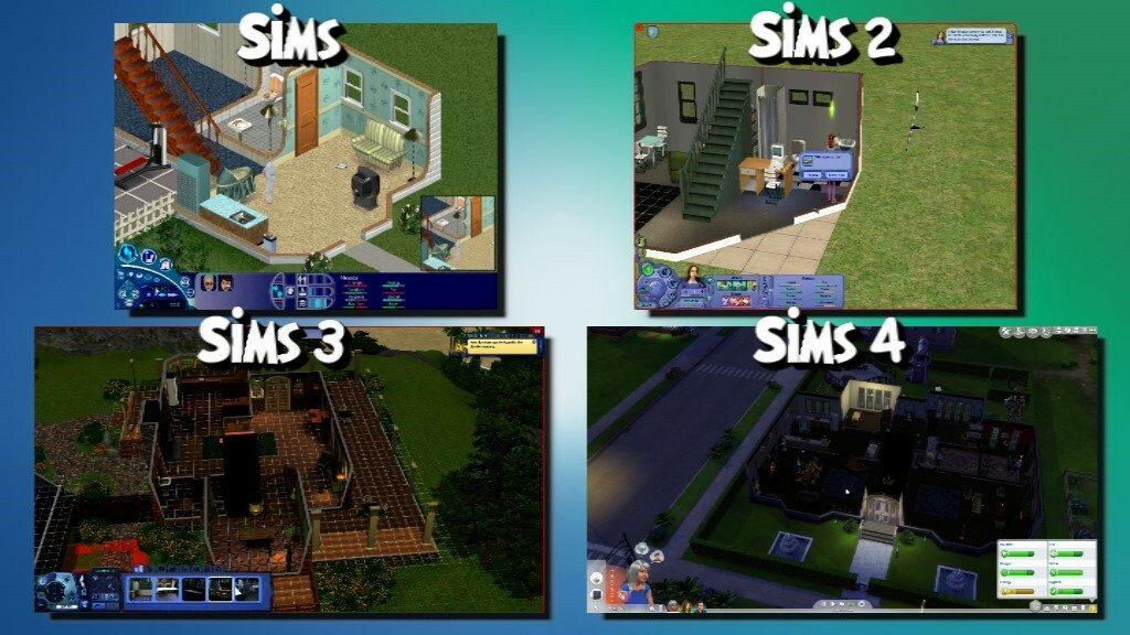 Sims vs Sims 2 vs Sims 3 vs Sims 4
