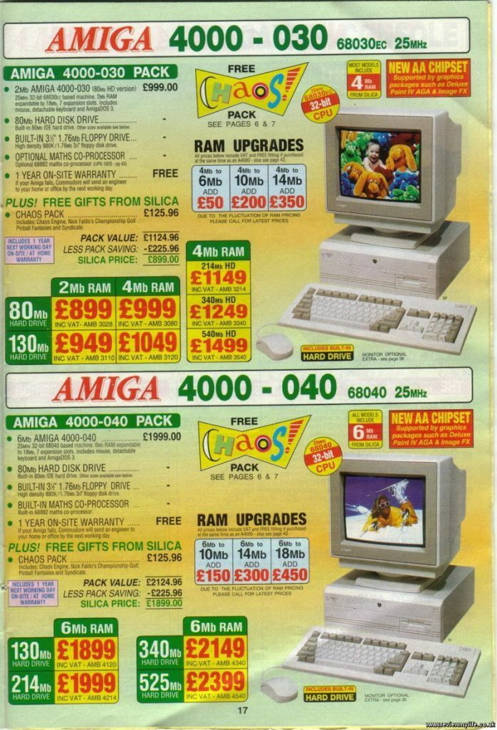 Amiga 4000 Advert