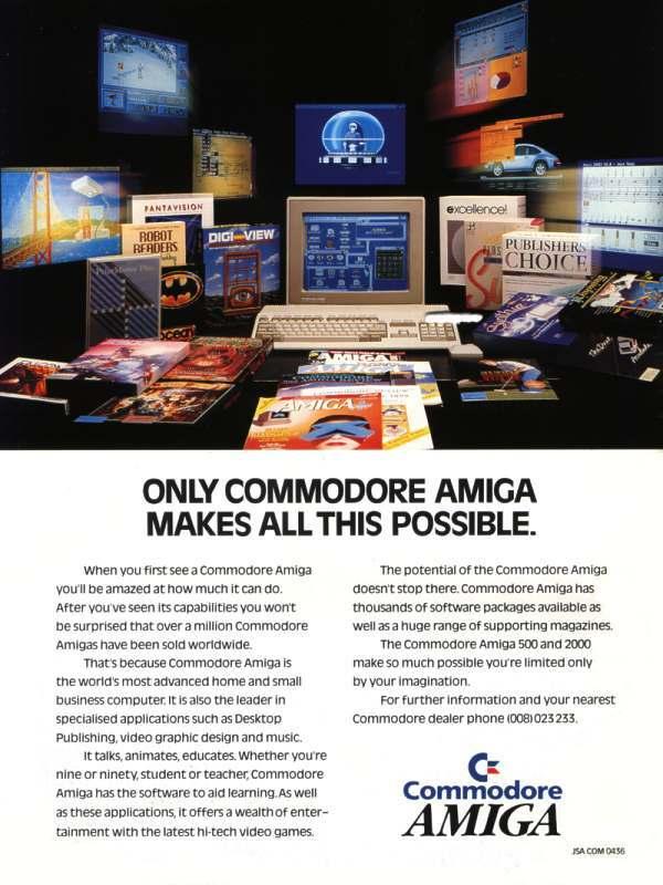 An Amiga 500 Advert