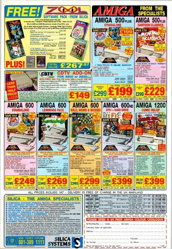 The Full Amiga Lineup (Advert)