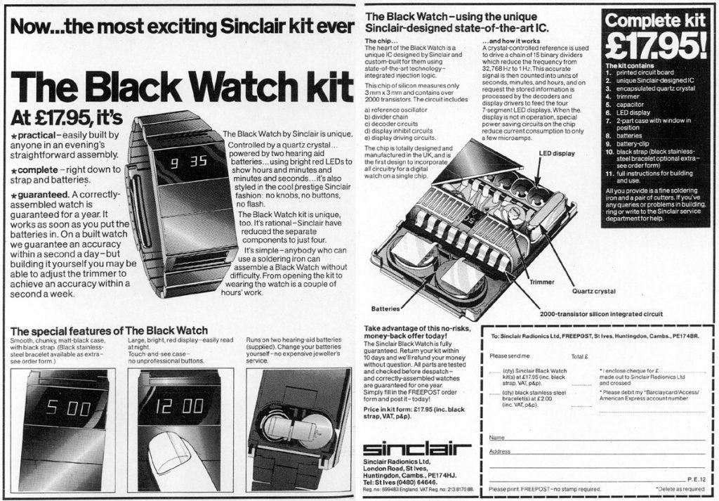 Sinclair Black Watch Advert